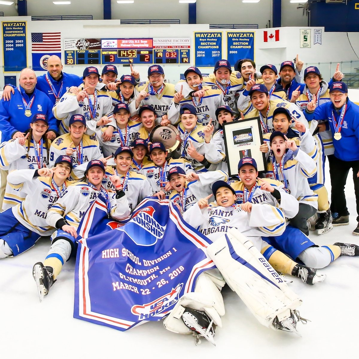 SMCHS Ice Hockey Wins National Championship